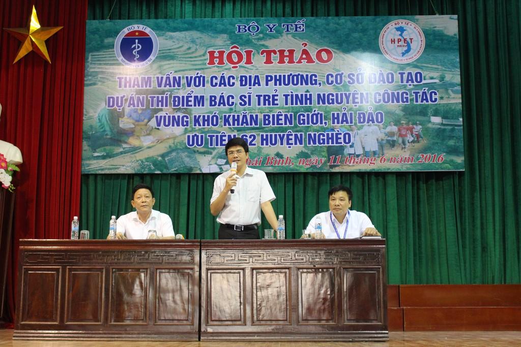 Hội thảo chia sẻ thông tin về dự án với sinh viên trường Đại học Y – Dược Thái Bình