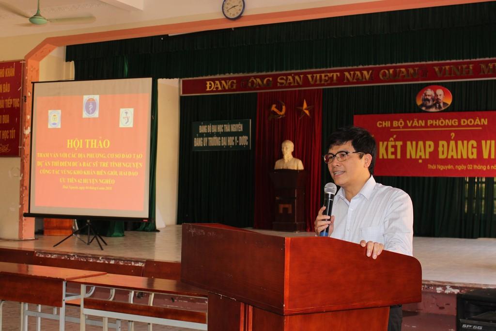 Hội thảo tham vấn với sinh viên Trường Đại học Y Dược Thái Nguyên về dự án bác sỹ trẻ tình nguyện