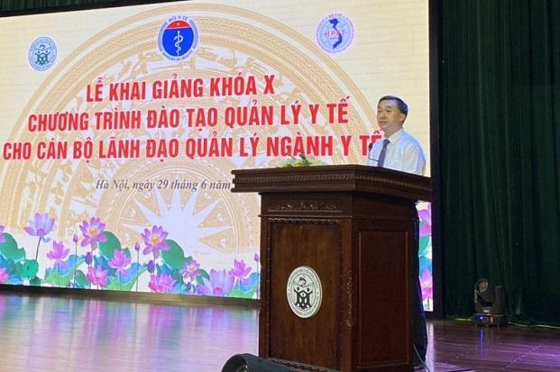 Lễ Khai giảng khóa X về Quản lý Y tế dành cho cán bộ lãnh đạo, quản lý Ngành Y tế